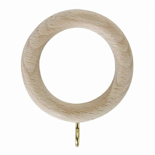 Rolls Unfinished 28mm Wooden Curtain Rings (Pack of 4)